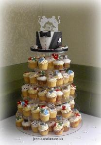 casino cupcake tower